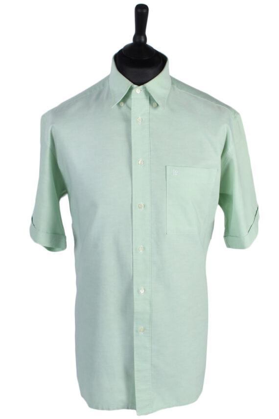 Pierre Cardin Vintage Plain Short Sleeve Shirt - M/L Green - SH2712-0