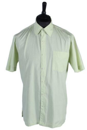 90s Shirt Chevignon Plain Short Sleeve Lime XL