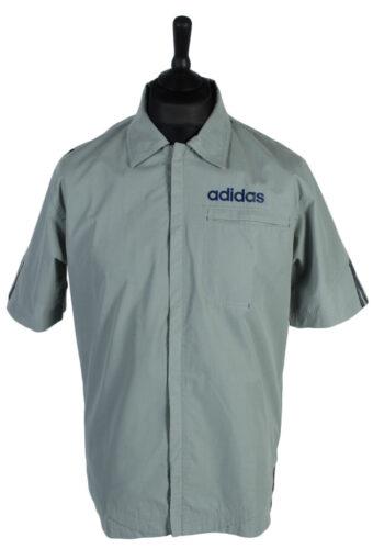 Adidas Shirt Short Sleeve 90s Grey M