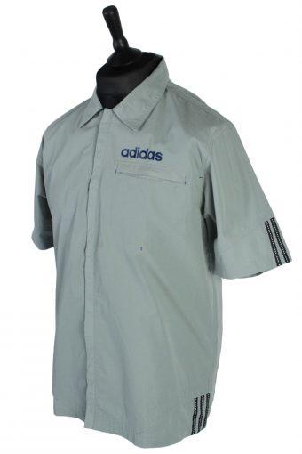 Adidas Vintage Plain Short Sleeve Shirt - M Grey - SH2720-47837