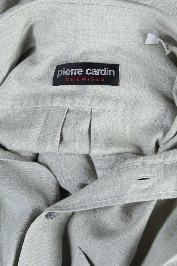 Pierre Cardin Vintage Plain Shirt Sage Green M/L - SH2739-48095