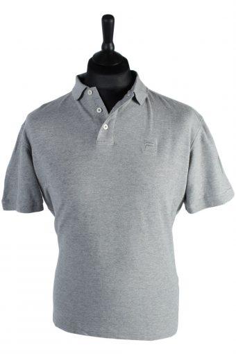 Fila Polo Shirt 90s Retro Grey L