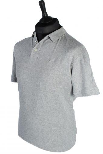 FILA Short Sleeve Vintage Polo Shirt - L Grey -PT0961-48268