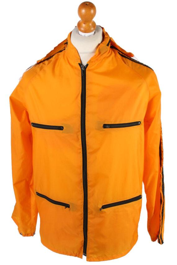 UNISEX Vintage Raincoat & Windbreaker - S,M Orange - RC285-0
