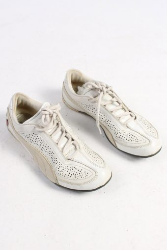 Puma Trainers Shoes Vintage – UK 4.5 White