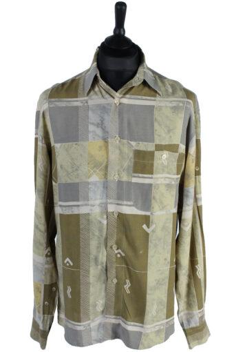 90s Shirt Xacus Patterned Long Sleeve Multi XL