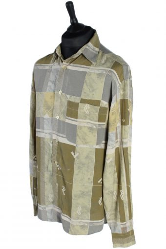 Xacus 80s 90s Patterned Long Sleeve Shirt - M Multi - SH2762-48449
