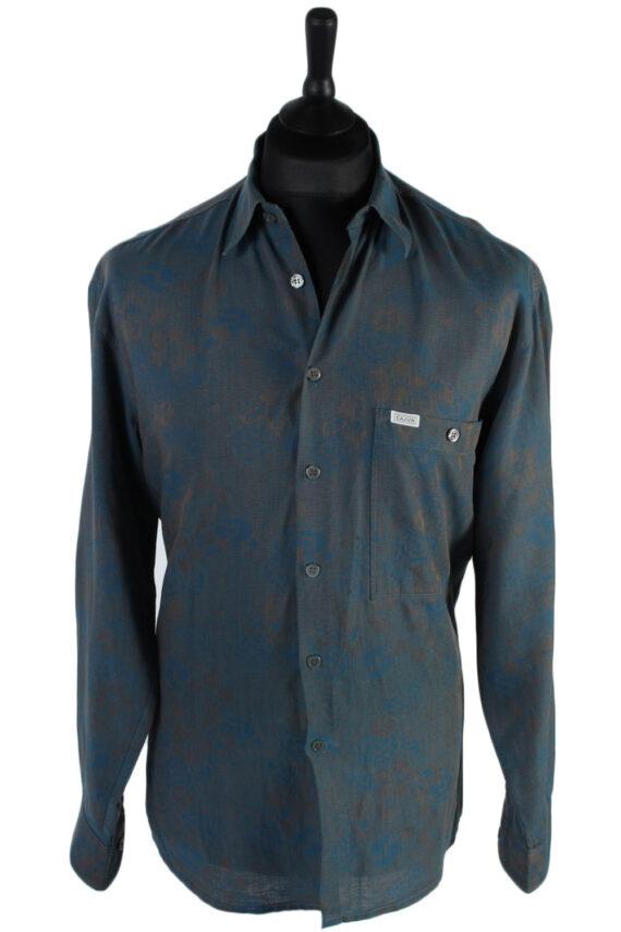Cajun 80s 90s Patterned Long Sleeve Shirt - M,L Multi - SH2763-0