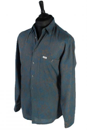 Cajun 80s 90s Patterned Long Sleeve Shirt - M,L Multi - SH2763-48453