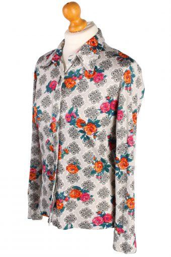 Womens Retro Vintage Patterned Blouse Shirt - M,L White - SH2779-49095