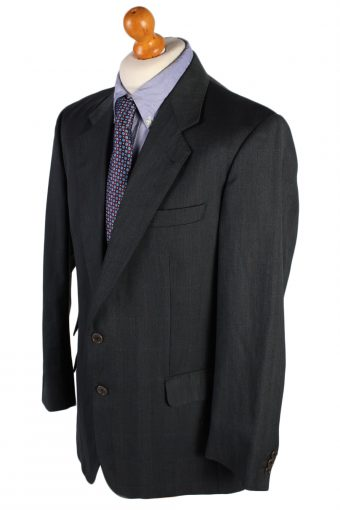 Vintage Burberry Buffin Blazer Jacket - L / Grey - BR615-51173