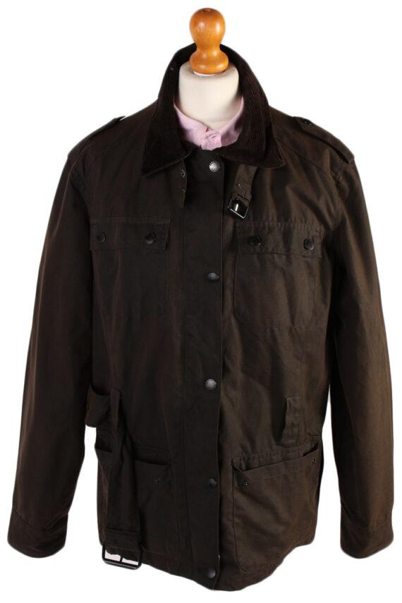 Vintage Crane Blanket Inner Waxed Coat Chest: 45 Brown -C511-0