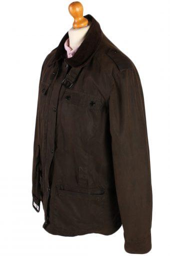 Vintage Crane Blanket Inner Waxed Coat Chest: 45 Brown -C511-51010