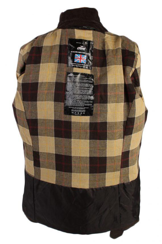 Vintage Crane Blanket Inner Waxed Coat Chest: 45 Brown -C511-51011