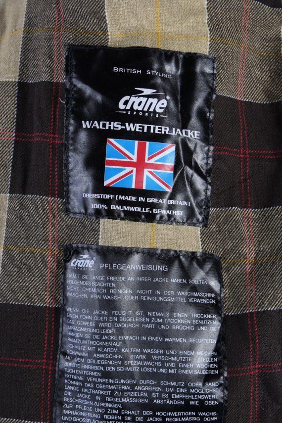 Vintage Crane Blanket Inner Waxed Coat Chest: 45 Brown -C511-51014