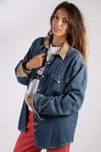 Donguan IND Blanket Inner Vintage Womens Denim Jacket L Navy -DJ1254-69607