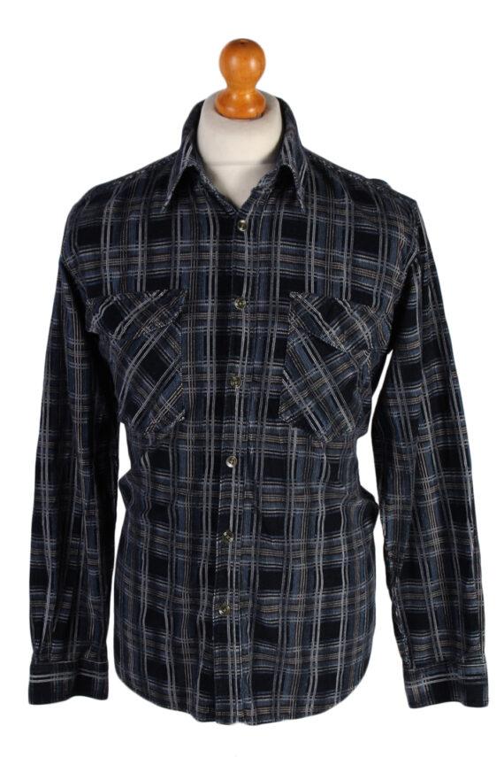 Vintage Laviino Corduroy Checked Shirt - L Multi - SH2862-0