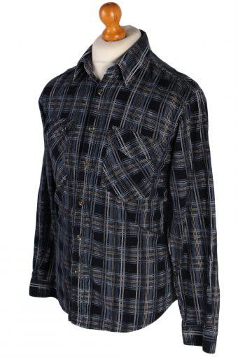 Vintage Laviino Corduroy Checked Shirt - L Multi - SH2862-52372