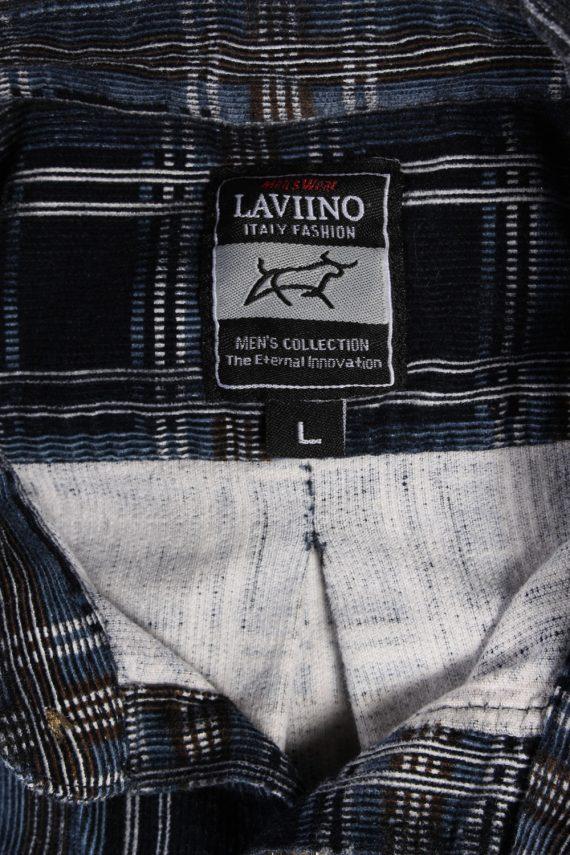 Vintage Laviino Corduroy Checked Shirt - L Multi - SH2862-52371