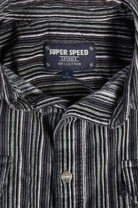 Vintage Super Speed Corduroy Striped Shirt - L Multi - SH2863-52375