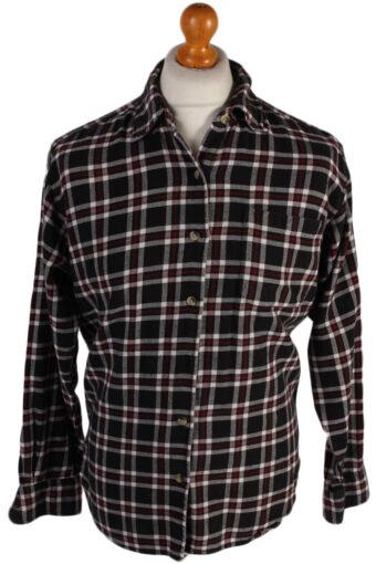 Flannel Shirt 90s Retro Black M