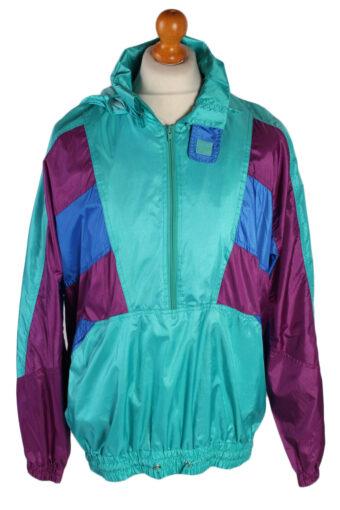 Raincoat Windbreaker Festival Coat Jacket 90s XL