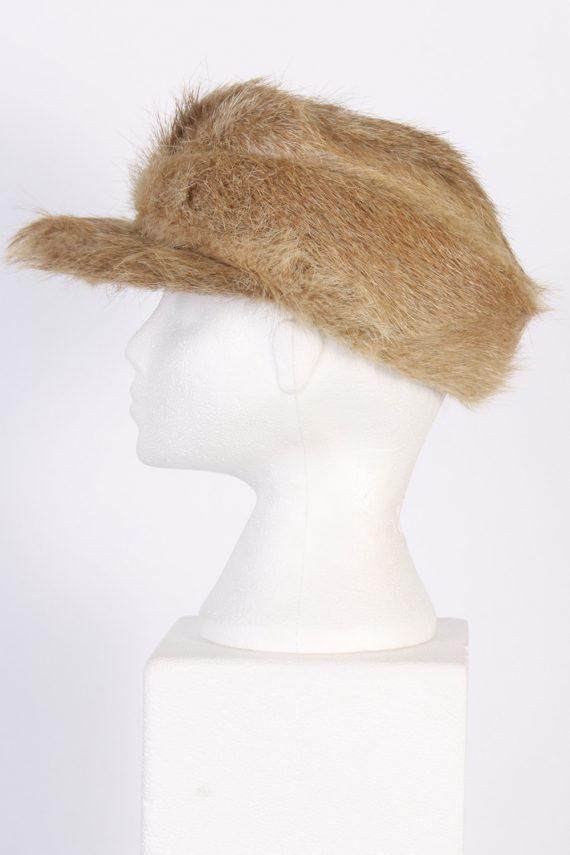 Vintage Fur Elegant Womens Hat - S Mocha - HAT091-56323