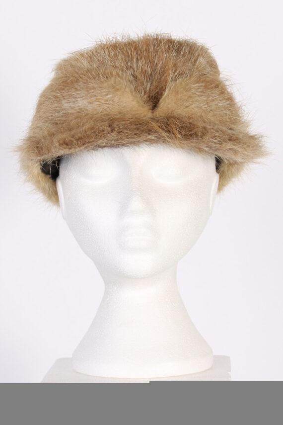 Vintage Fur Elegant Womens Hat - S Mocha - HAT091-0