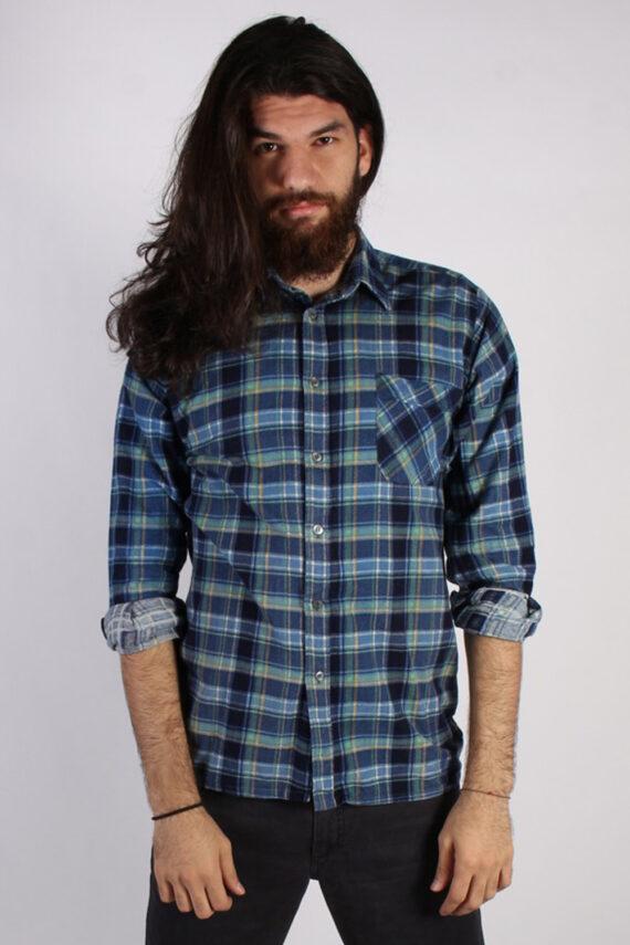 Vintage 90s Southwest Castle Mens Checked Flannel Shirt - L Multi - SH2988-0