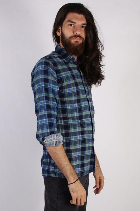 Vintage 90s Southwest Castle Mens Checked Flannel Shirt - L Multi - SH2988-55329