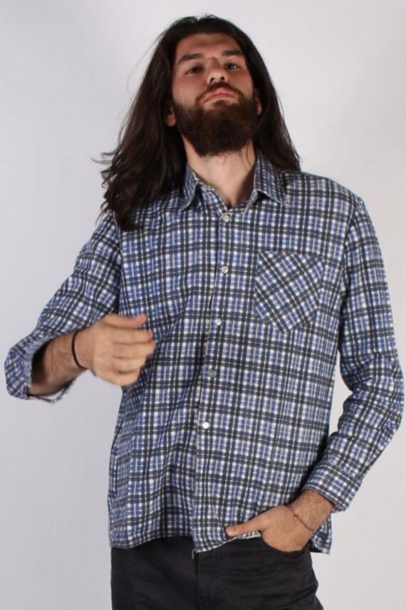 Vintage Pure Cotton Mens Flannel Shirt - XL Multi - SH3021-0