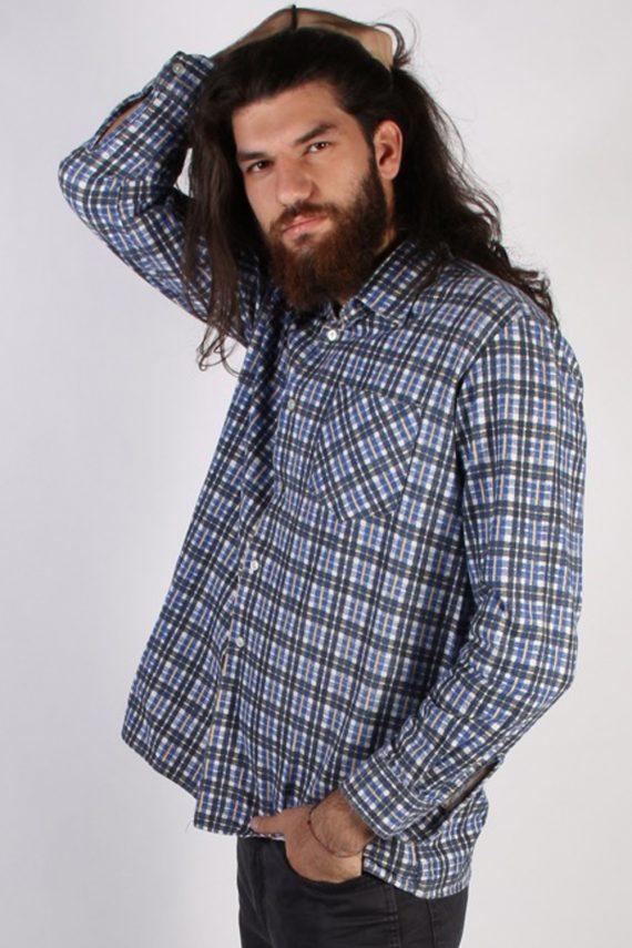 Vintage Pure Cotton Mens Flannel Shirt - XL Multi - SH3021-55460