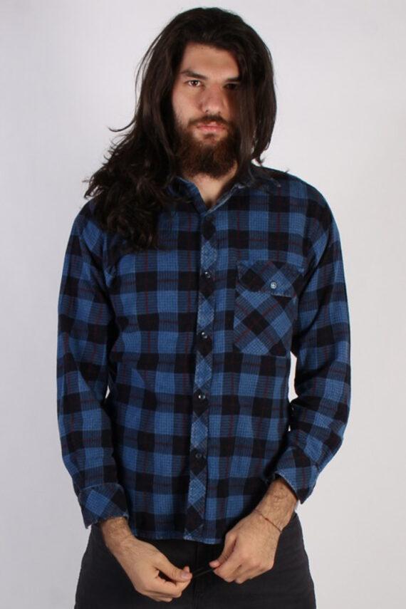 Vintage Loppo Mens Flannel Shirt - L Multi - SH3022-0
