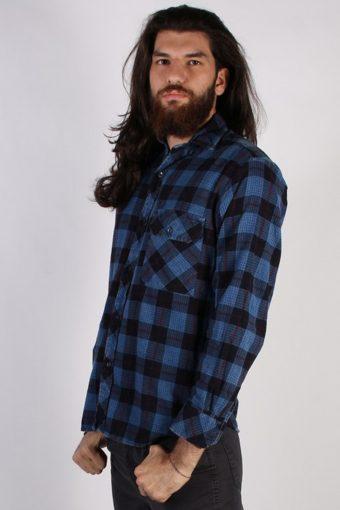 Vintage Loppo Mens Flannel Shirt - L Multi - SH3022-55464