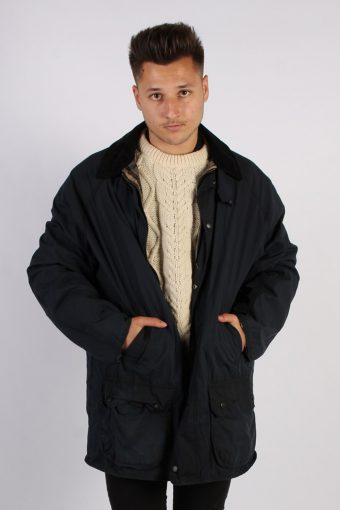 Vintage Barbour Classic Lightweight Jacket – Chest:54 Navy