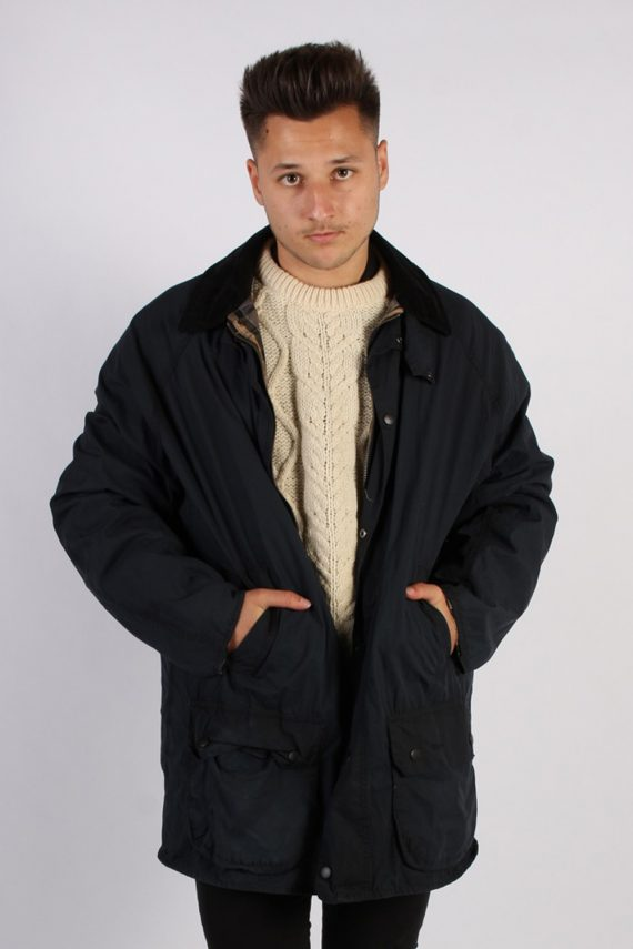 Vintage Barbour Classic Lightweight Jacket - Chest:54 Navy - BR691-0