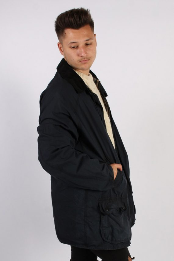 Vintage Barbour Classic Lightweight Jacket - Chest:54 Navy - BR691-54718