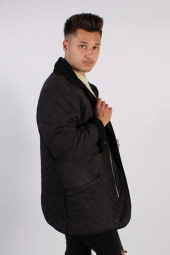 Vintage Barbour Long Quilt Jacket - Chest:47 Navy - BR699-54750