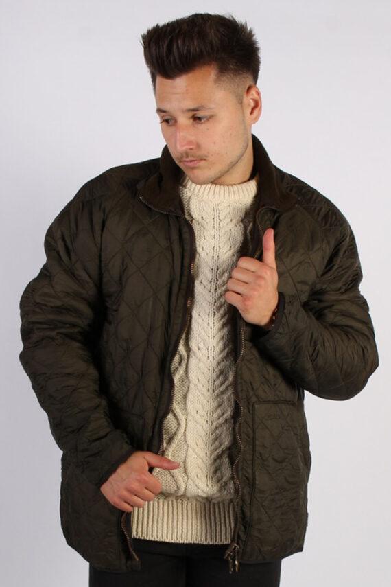 Vintage Barbour Classic Quilt Jacket - Chest:48 Khaki - BR706-0