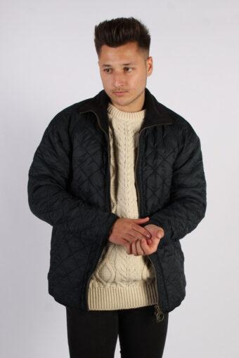 Vintage Barbour Classic Quilt Jacket – Chest:44 Navy