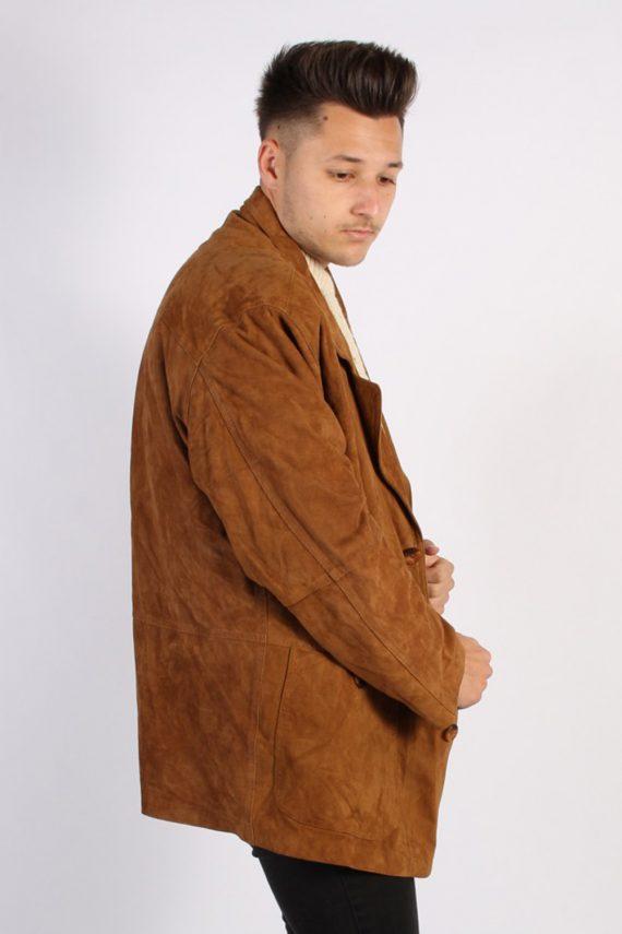 Vintage Podleyski Matte Suede Coat Chest:49 Brown -C566-54367
