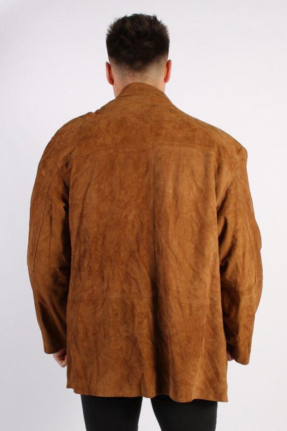 Vintage Podleyski Matte Suede Coat Chest:49 Brown -C566-54368
