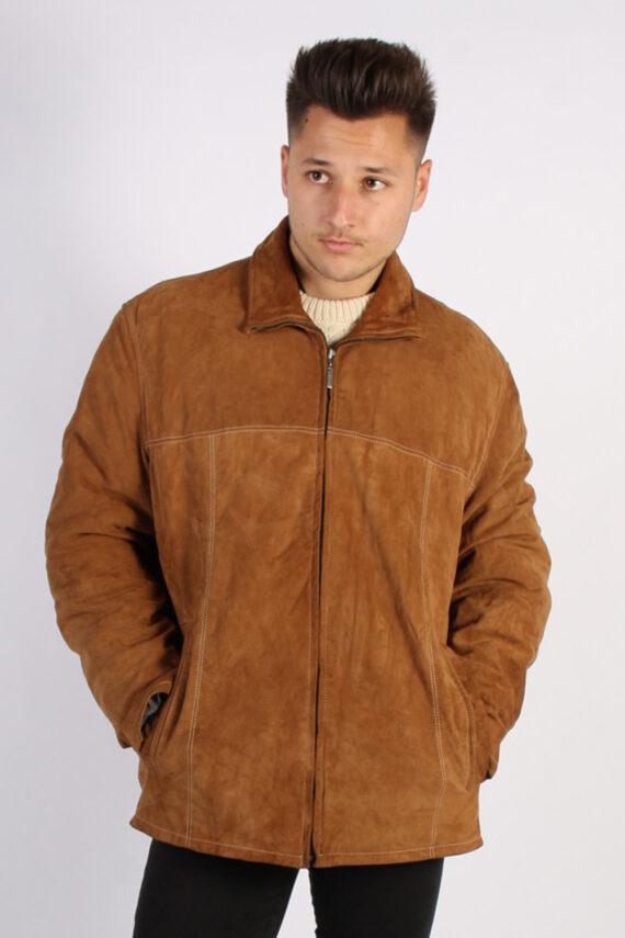 Vintage Werther Matte Suede Coat Chest:51 Brown -C567-0