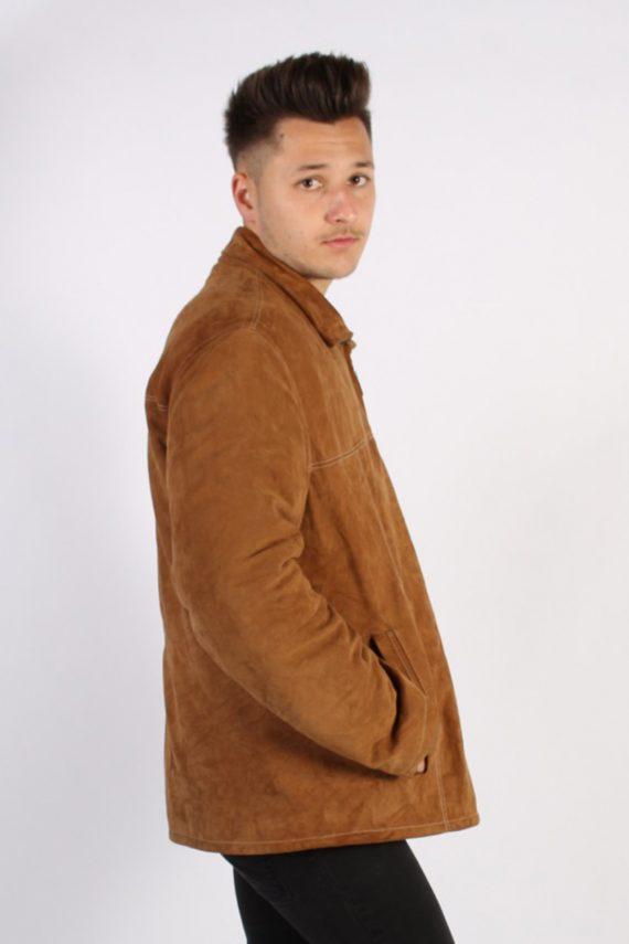 Vintage Werther Matte Suede Coat Chest:51 Brown -C567-54374