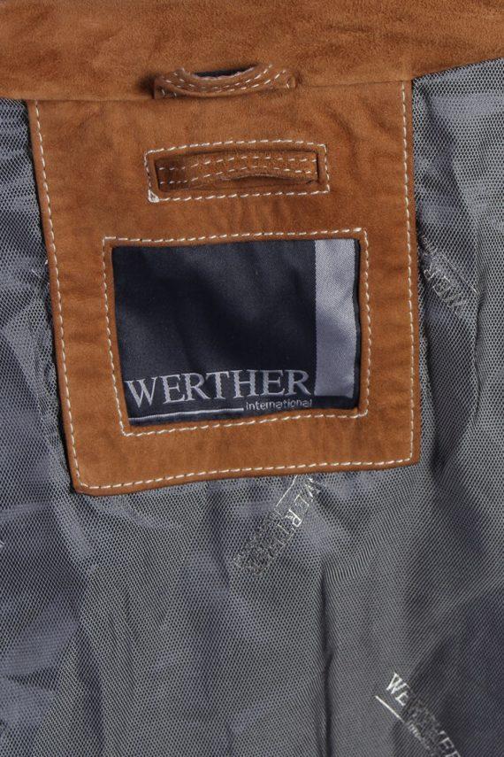 Vintage Werther Matte Suede Coat Chest:51 Brown -C567-54373