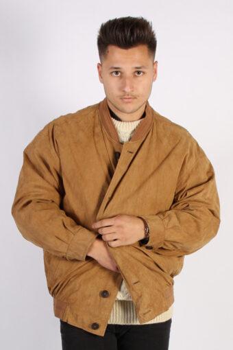 Vintage Pierre Cardin Matte Suede Coat  Chest:53 Brown