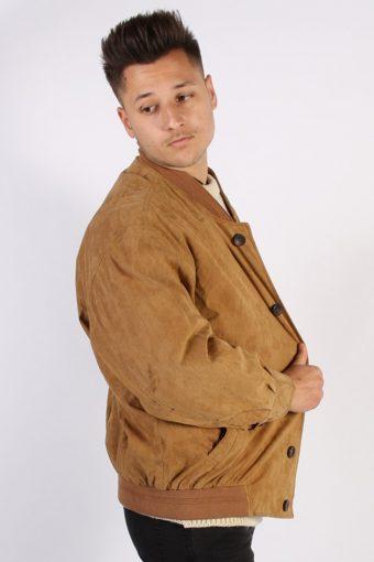 Vintage Pierre Cardin Matte Suede Coat Chest:53 Brown -C576-54407