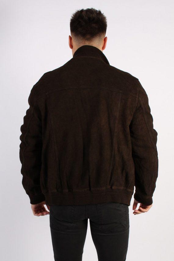 Vintage Genuine Matte Suede Coat Chest:45 Brown -C579-54419