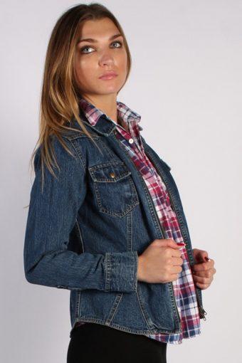 Vintage Arizona Womens Denim Jacket L Navy -DJ1256-53641