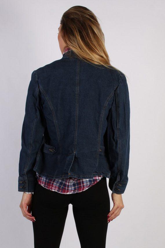 Vintage Lands End Womens Denim Jacket L Navy -DJ1257-53646